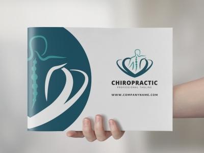 Chiropractic Logo massagist massage identity human silhouette human hands hand fingers dorsal doctor clinical clinic chiropractor chiropractic chiro branding brand back creative logo