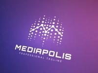 Mediapolis M Letter Logo