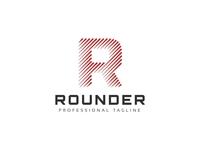 Rounder R Letter Logo