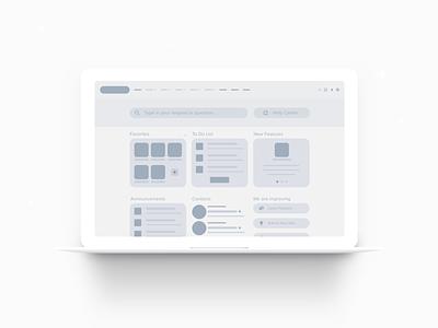 Community Desktop Wireframe custom components crm wireframe salesforce