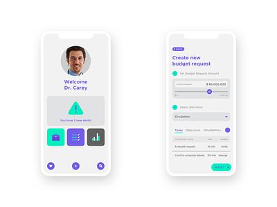 Healthcare App mobile ui app app ui health revision healthcare doctor budget slider salesforce