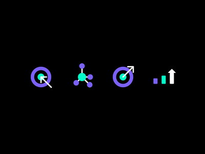 Icon Set dartboard diagram chart circle arrow aim set icon graphic income growth success result outcome strategy target goal business