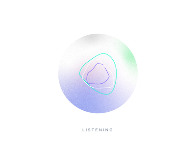 AI Assistant Voice Interface visual design visual transition thinking motion listening interface voice illustration creative ai intelligence artificial
