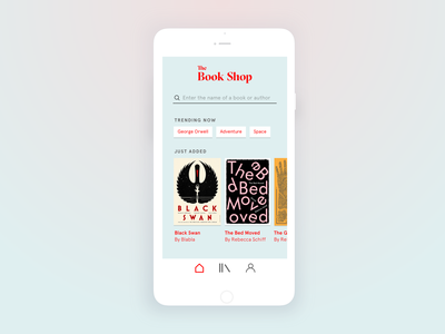 Bookshop app concept bookshop ios app ui books