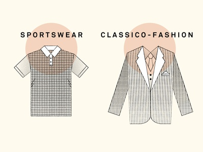 Illustrations of men's clothing illustration men clothes fashion icons texture black and white vintage clothing sportswear t-shirt blazer