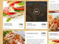 Food delivery website.