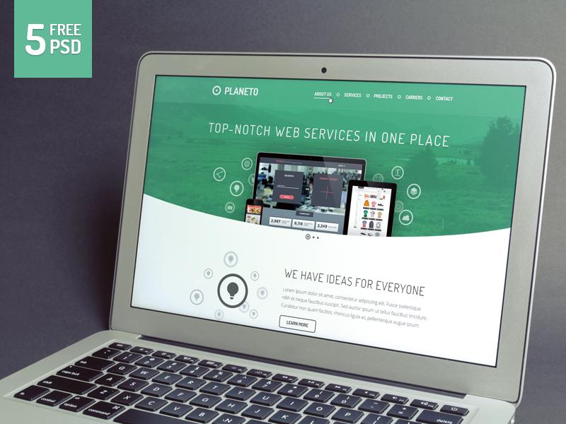 Planeto - Free website template website template freebie modern clean agency business