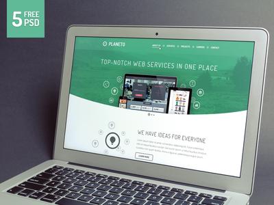 Planeto - Free website template