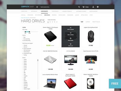 Computix Store - Free Eshop Template by Lukas Jurik - Dribbble