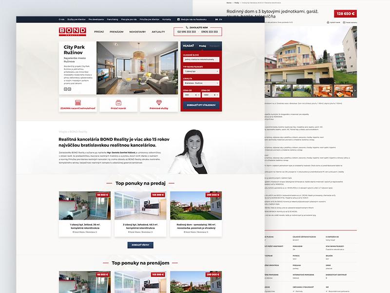 Bond Reality Website webdesign reality website