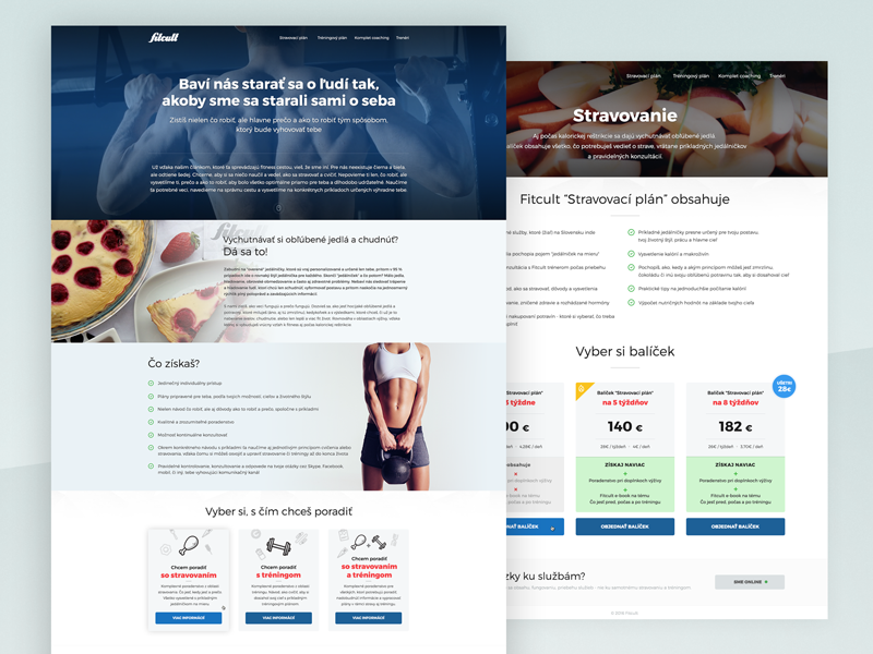 Fitcult Coaching fitcult fitness coaching ux webdesign website landing