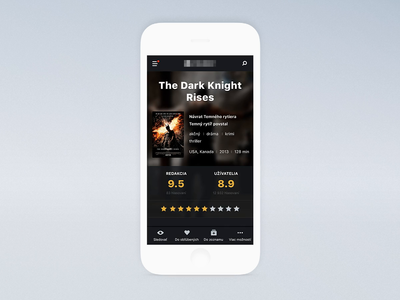 Movie Database Concept Mobile