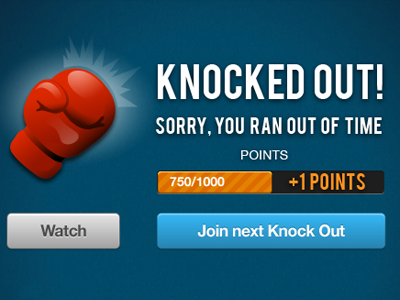 Knocked Out game losing boxing points