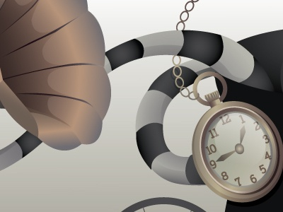Mime header graphic clock stipes gramophone vector