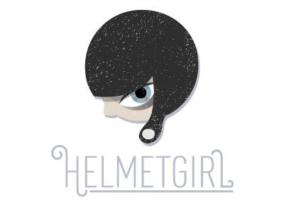 Helmetgirl Logo  girl illustrator head logo
