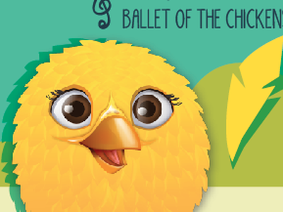 Chicken Character and layout character design chicken music feather