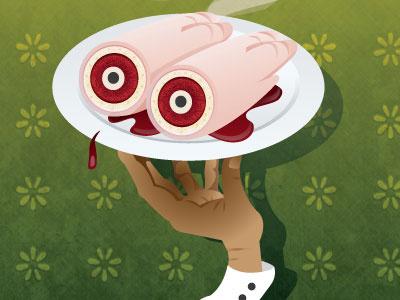 Pied De Porc  pigs feet hand waiter texture flowers food