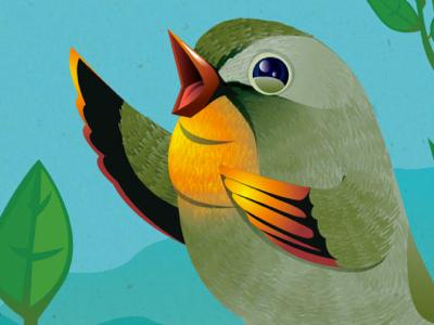 The Nightingale bird vector nightingale character music song