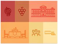 Wine Venue Illustrations