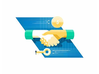 Handshake illustration hands handshake