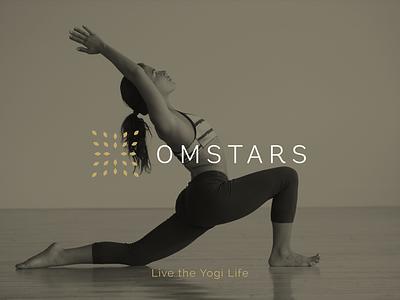 Omstars Branding branding logo brand yogi yoga