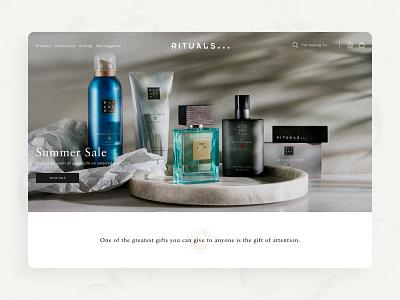 RITUALS Cosmetics concept minimal redesign concept redesign ui design web design ecommerce feminine cosmetics rituals cosmetics rituals