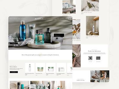 RITUALS Cosmetics Homepage web design ui design rituals cosmetics rituals redesign concept redesign minimal feminine ecommerce cosmetics concept