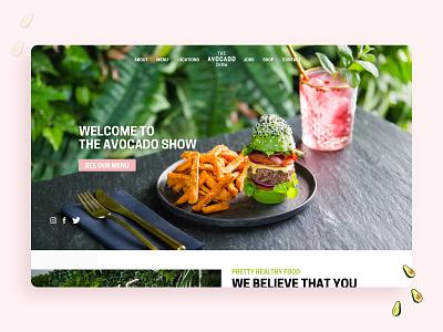 The Avocado Show 🥑 food menu design food menu concept ui design ui clean minimal landing page vegan restaurant vegan green restaurant social media dutch amsterdam restaurant avocados avocado the avocado show