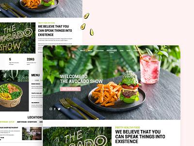 The Avocado Show Homepage 🥑 the avocado show avocado avocados restaurant amsterdam dutch social media green restaurant vegan landing page minimal clean ui ui design concept menu food design vegan restaurant food menu