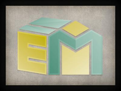 EM Logo logo design branding