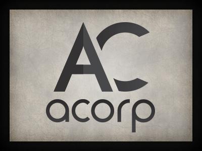 ACorp logo branding qchar design logo design