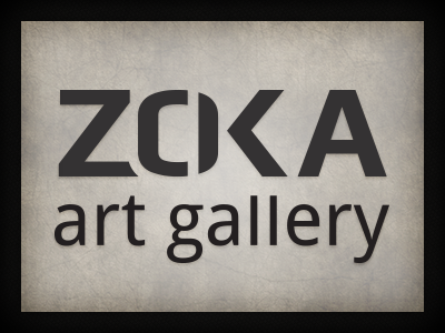 Zoka Art Gallery logo branding qchar design logo design