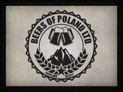 Beers of Poland logo branding qchar design logo design