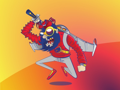 Crab Face crazy crab caracter vectorart illustration art illustrator ilustration