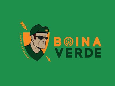 Projeto - Cerveja Boina Verde (green beret - beer) logo identidade visual illustrator vector