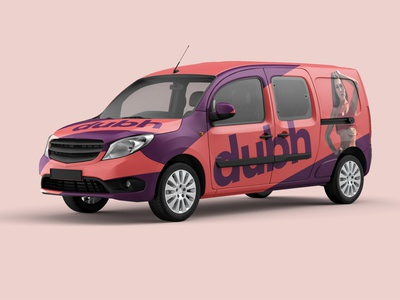 Veículo Dubh women logo wear fitness fitness logo institutional car branding identidade visual