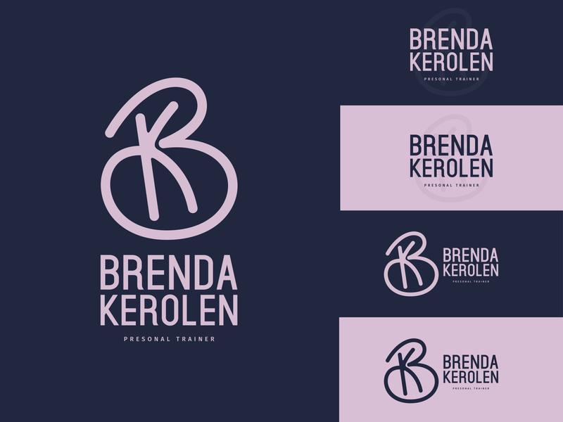 Brenda Kerolen - Personal trainer women personal trainer fitness logo branding vector logo identidade visual