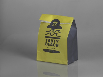Tasty Burger brownbag vector photoshop illustrator brand identity