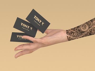 Tony V. businesscard psd illustrator tattoo branding logo