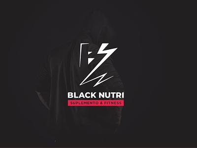 Black Nutri - Logo black health identidade visual fitness logo logo