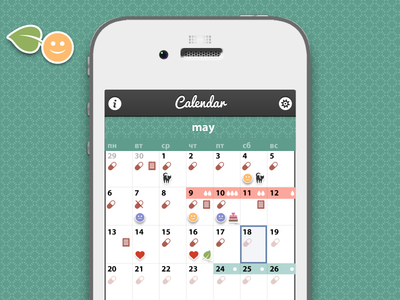 Calendar for women, without pink color)