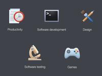 Parallels Desktop. Configuration. Icons