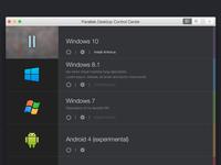 Parallels Desktop 10-11. Control Center.