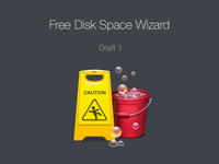 Free Disk Space Wizard Icon. Draft 1