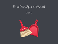 Free Disk Space Wizard Icon. Draft 2