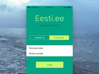 Login. Eesti Mobile. Concept