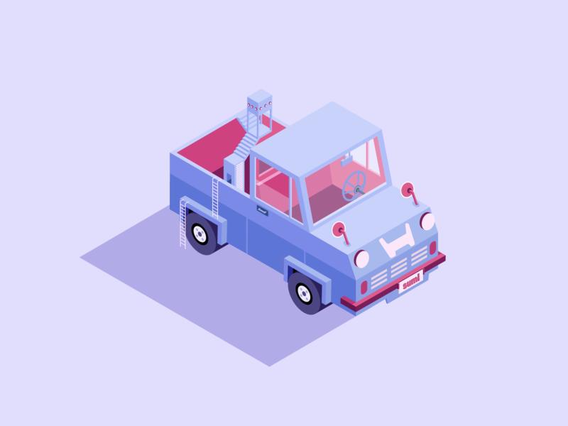 Purple car illustration