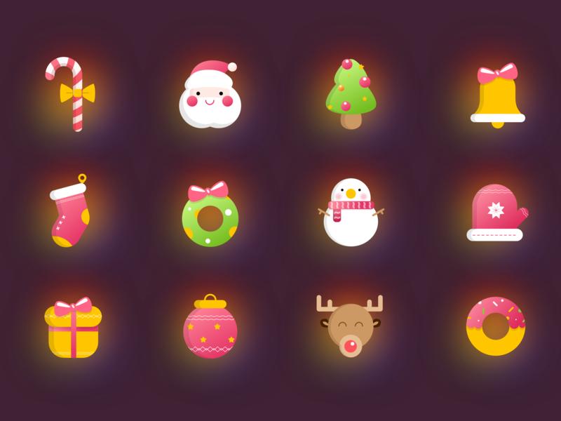 Christmas 图标 ui 插图