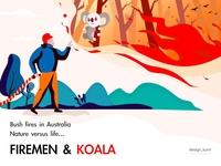firemen & koala