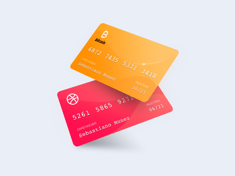 Bitcoin/Dribble Card debit crypto payment credit card dribbble cryptocurrency bitcoin